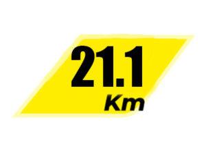 21 километра 100 метров