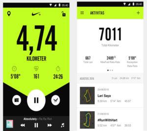 Nike+ Run Club приложение для занятий спортом