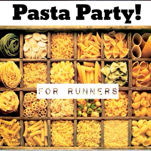 Приглашение на pasta-party. После прохождения марафона. Это позволяет восстановить силы, и пообщаться с единомышленниками.